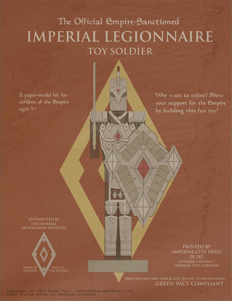 Elder Scrolls Online - Imperial Soldier Papercraft by RocketmanTan