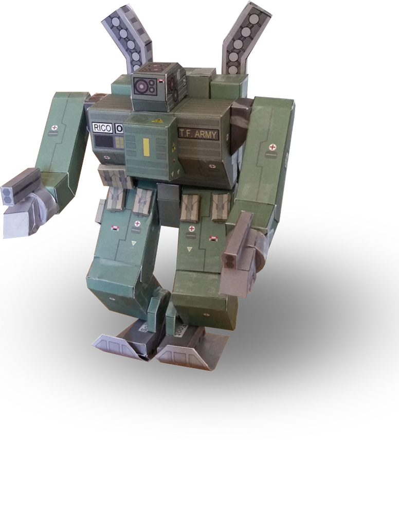 Starship Troopers Power Armor Paper Model Kit by RocketmanTan