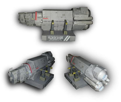 Halo - Pillar of Autumn Paper Model