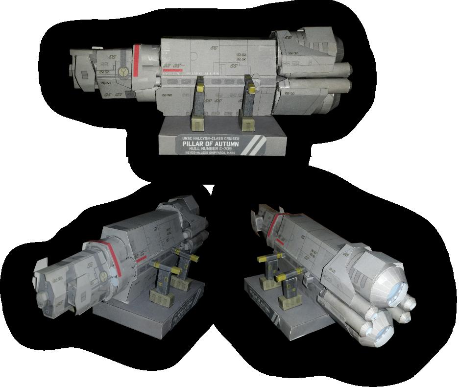 Halo - Pillar of Autumn Paper Model by RocketmanTan