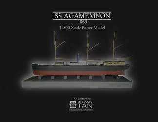 Steam Clipper Agamemnon - Paper model kit
