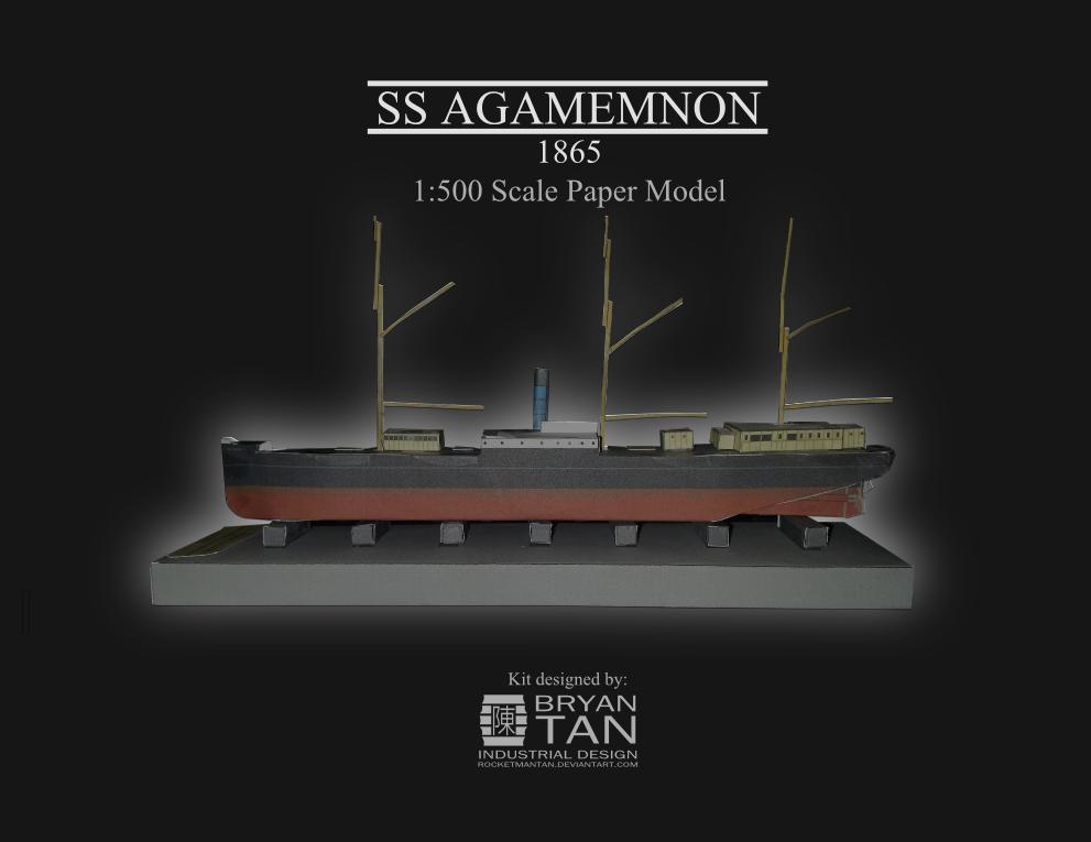 Steam Clipper Agamemnon - Paper model kit by RocketmanTan