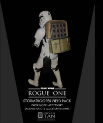 Rogue One - Stormtrooper Backpack Papercraft