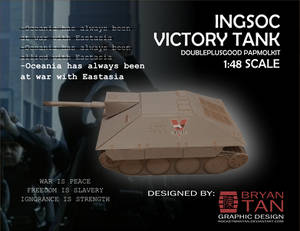 1984 - Ingsoc Victory Tank Paper Model Kit