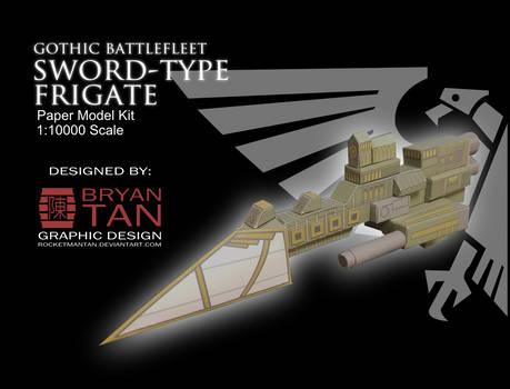 Gothic Battlefleet -Sword-Class Frigate Papercraft