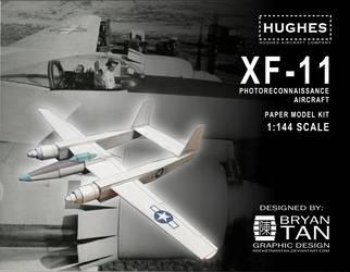 Hughes XF-11 Paper Model Kit