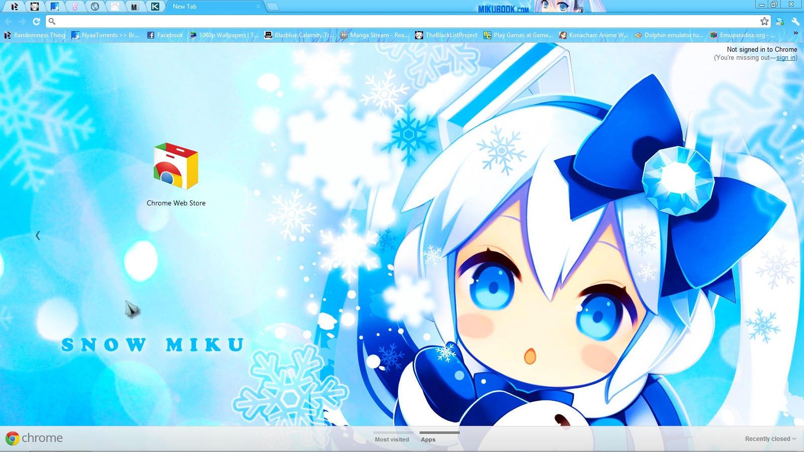 Google themes hatsune miku - Snow Miku Hatsune Theme By Adventkai