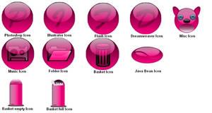 Icon Set Pink