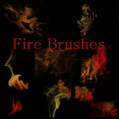 Fire Brushes by Miciaila