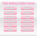 Pink Gallery Folder Icons