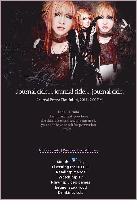 Leda journal skin by mittilla