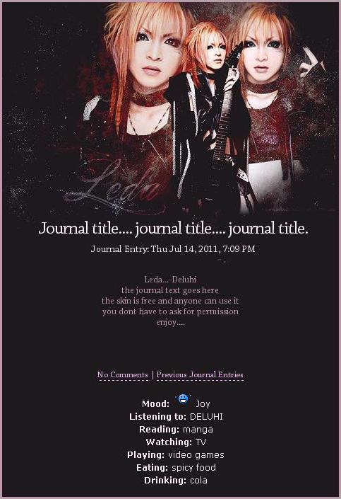 Leda journal skin by mittilla
