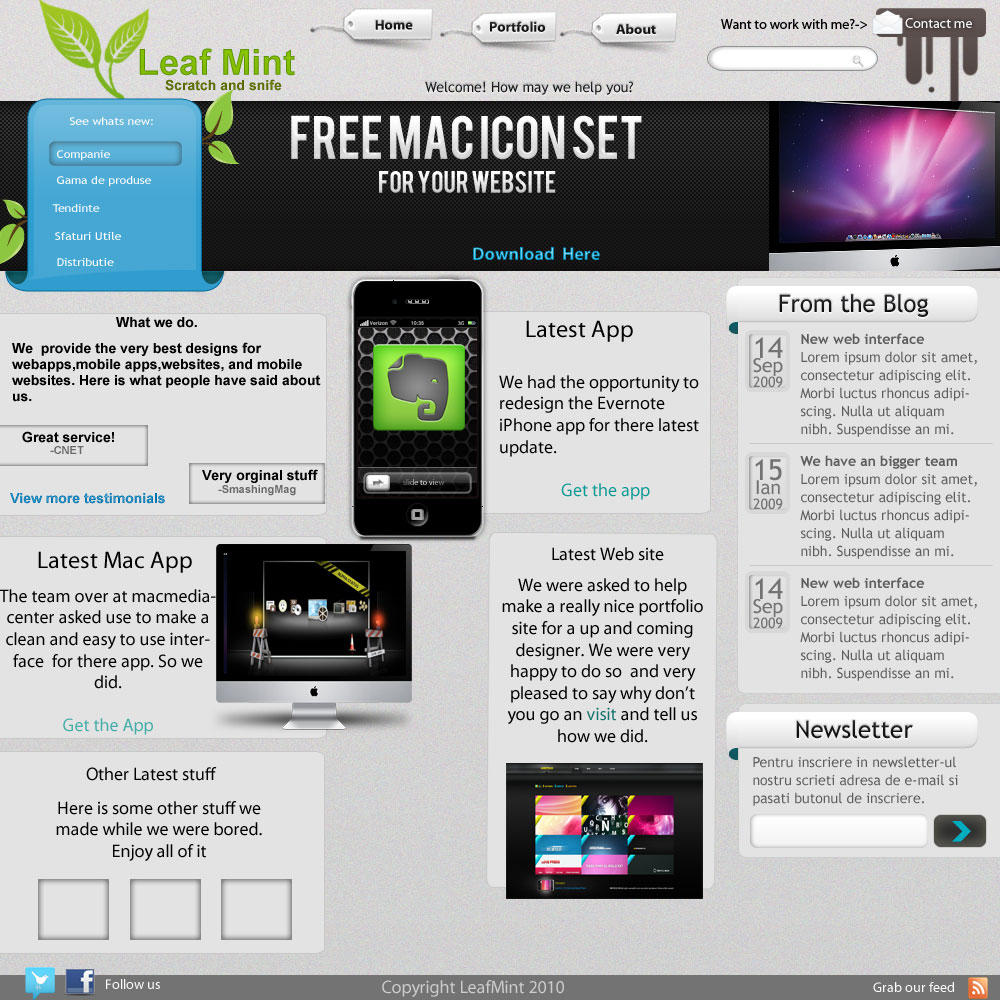 Creamy dev site concept psd by TheGraphicGeek