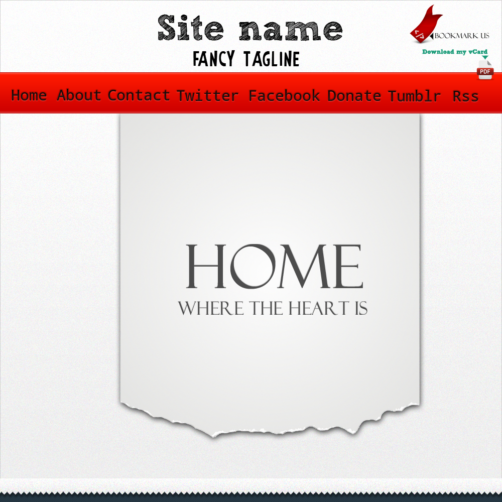 Visiting card web template by TheGraphicGeek on DeviantArt