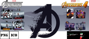 The Avengers Collection Folder Icons Pack