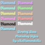 Glowing Glass Photoshop Styles