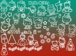 Hello Kitty Christmas Brushes