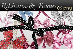 Ribbons and Bows pack by AyameRD