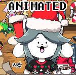 Merry-Xmas-with Temmie!-PIXEL-ART