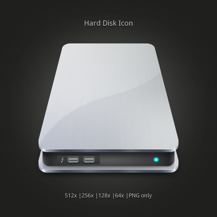 Metallic Hard Disk Icons -Free by nirman