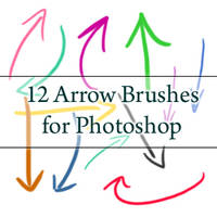 12 Arrow Brushes - PS7 and CS3 by myukiori