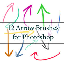 12 Arrow Brushes - PS7 and CS3