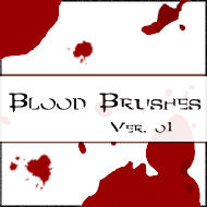 8 Blood Splatter Brushes - PS7 by myukiori