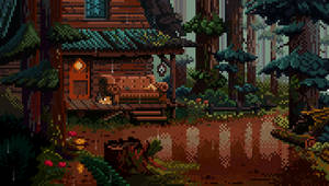 Rainy afternoon in Gravity Falls