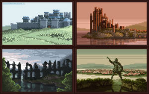 (Animated) Game of Thrones - Iconic scenery by bbrunomoraes