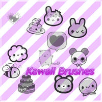 Kawaii Brushes I by Thoxiic-Editions
