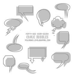 Comic bubble brushes no. 1