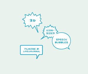 Speech bubbles 100x100