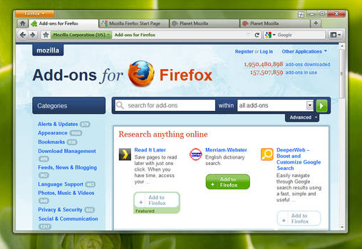 Spew's Firefox 4 Mockup