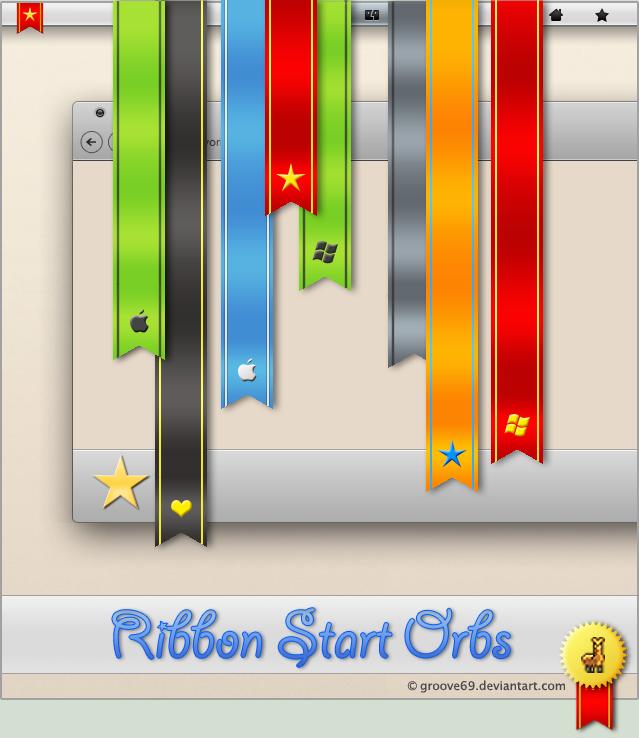 Ribbon Start Button for Windows 7