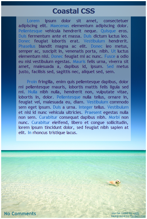 Coastal CSS by Abfc
