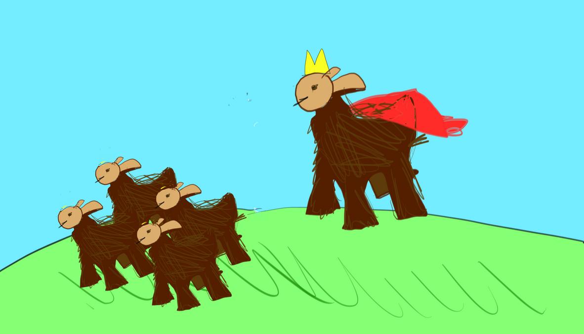 SketchMatch King Llama by LabLayers