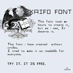 Kaifo font by kailor