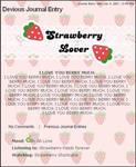 PINK Strawberry Free Journal