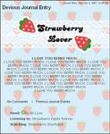 BLUE Strawberry Free Journal