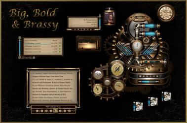 BB'B Steampunk for Rainmeter by Mordasius