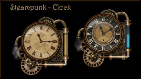 Rainmeter Steam Clock