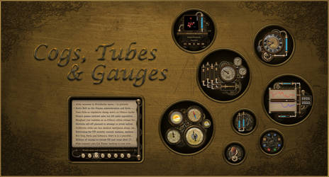 Steampunk Cogs, Tubes and Gauges for Rainmeter