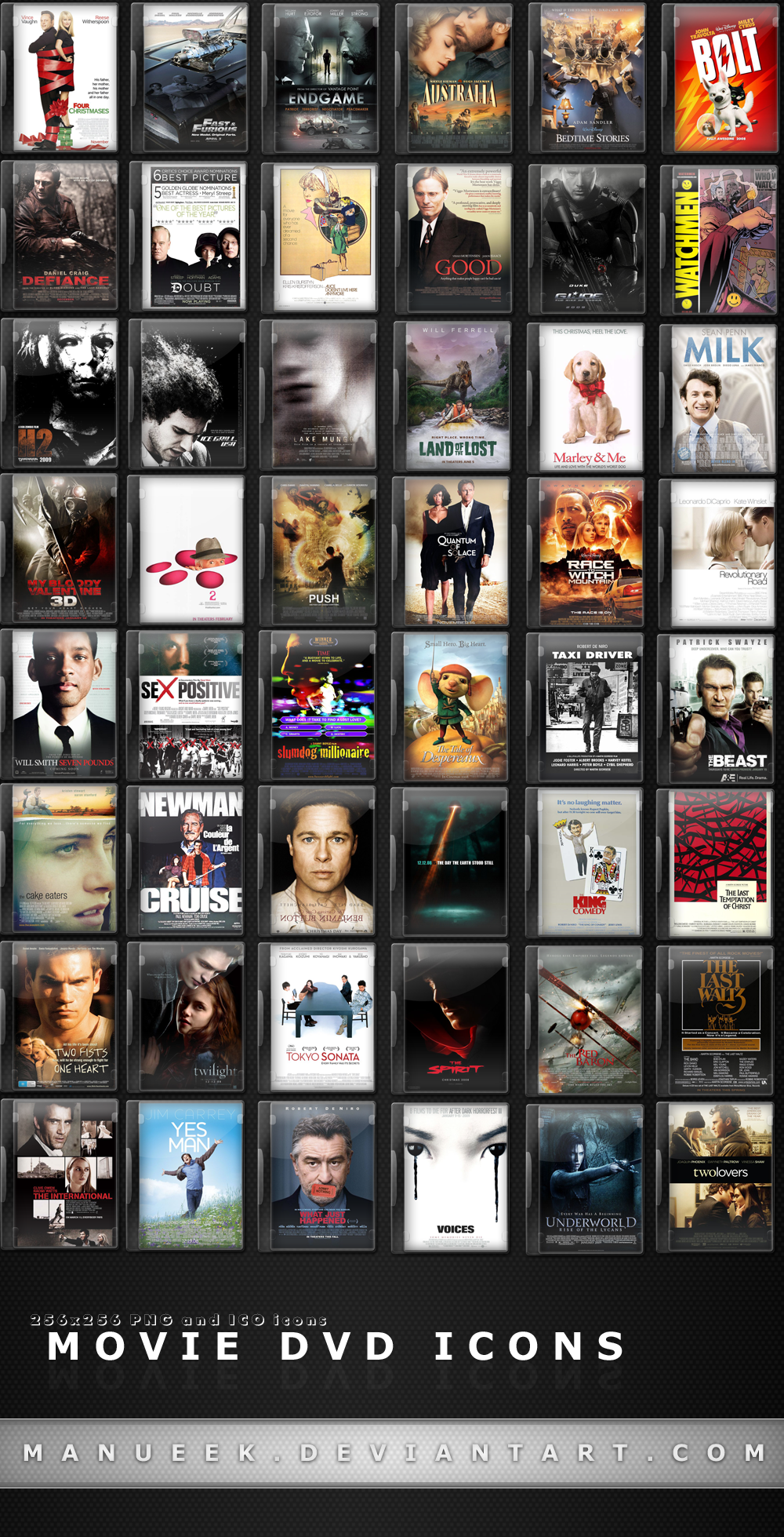 Movie DVD Icons 1 by manueek on DeviantArt