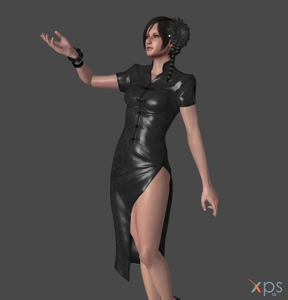 RE6 Ada Wong Black Chinese Dress By IamRinoaHeartilly On