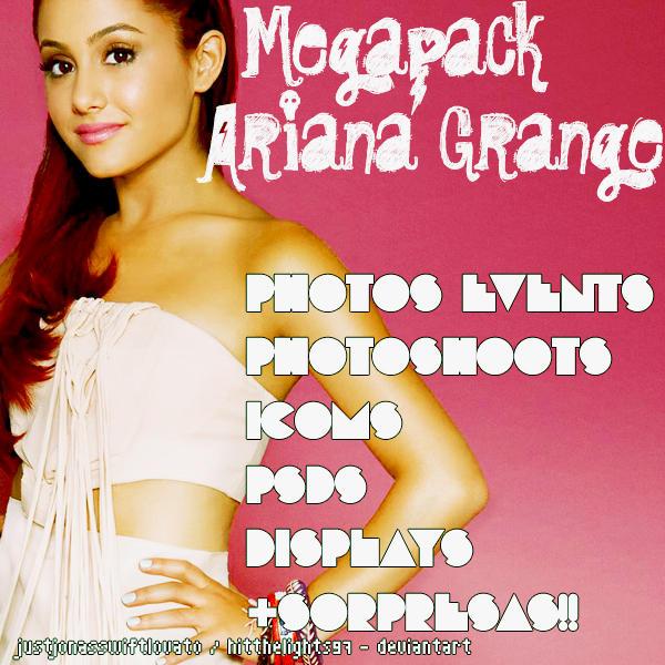 Megapack de Ariana Grande by justjonasswiftlovato