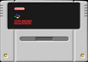 SNES Cartridge Vector Template by Mellie-Master