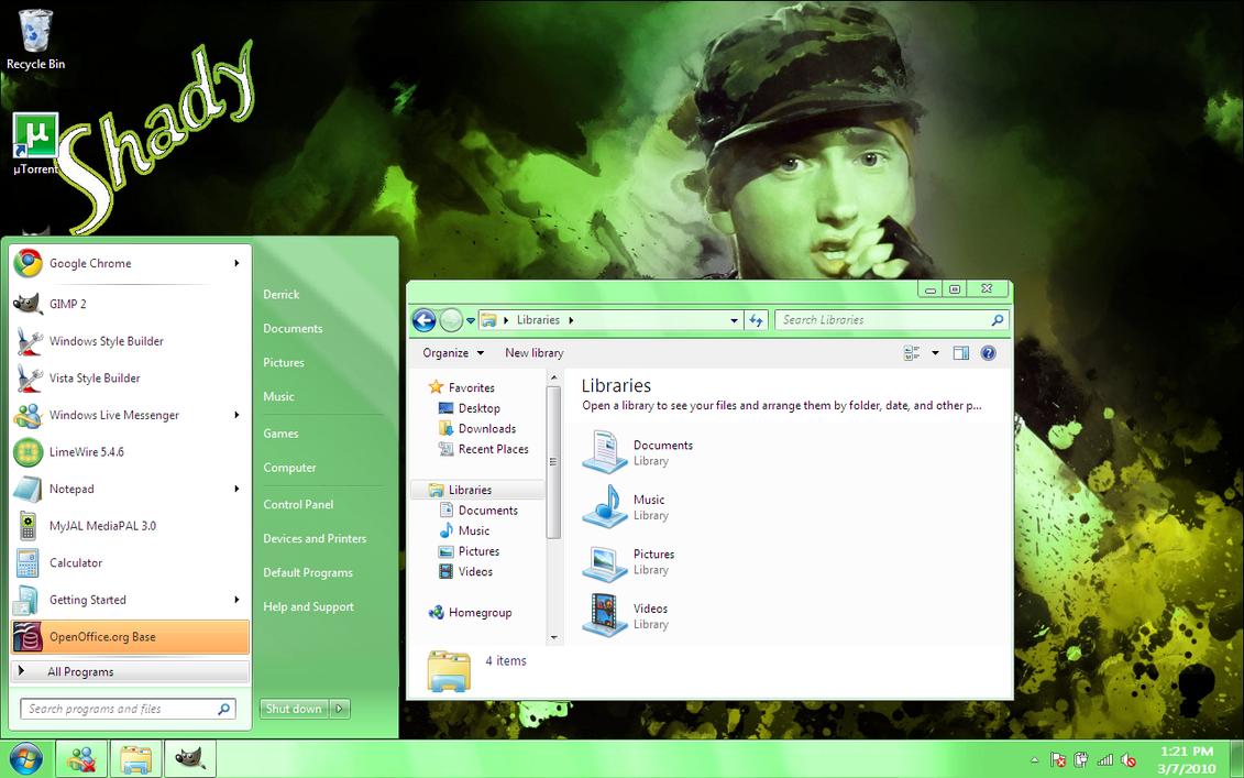Windows 7 Aero Green Basic VS by dpmm07