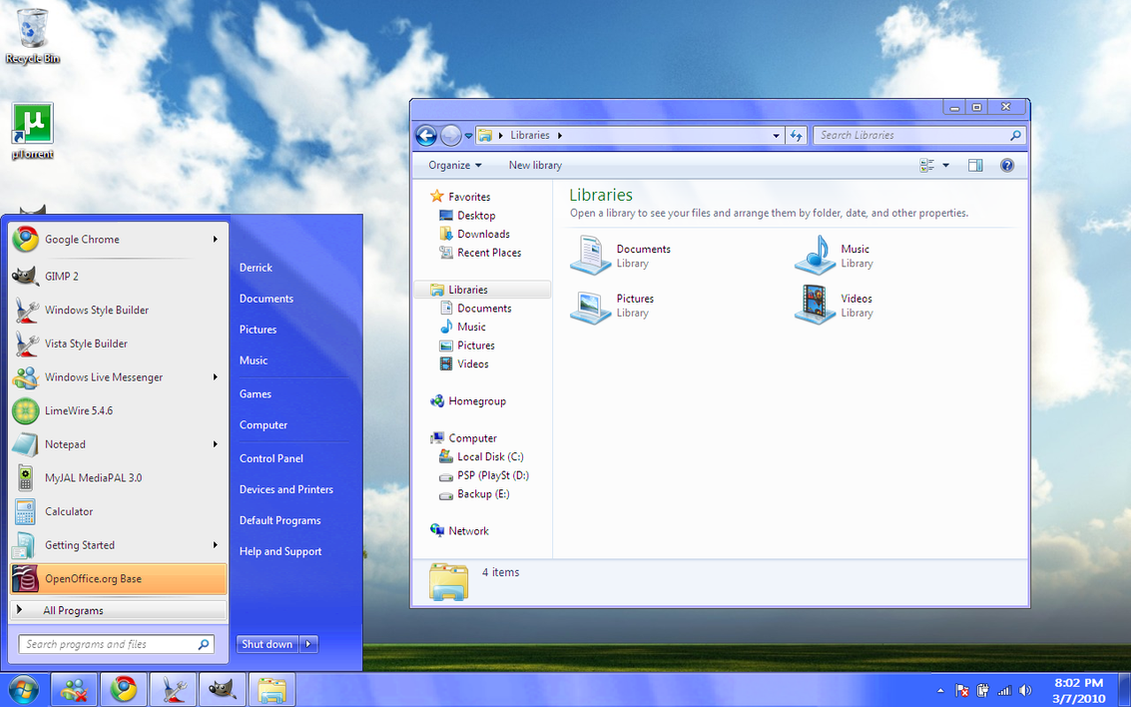 Windows 7 Aero Blue Basic VS by dpmm07