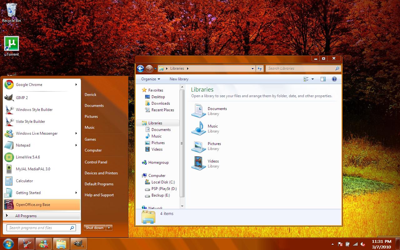 Windows 7 Aero Burnt Basic VS by dpmm07