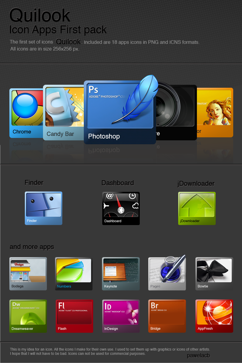 Quilook - Apps icon set by pawelacb